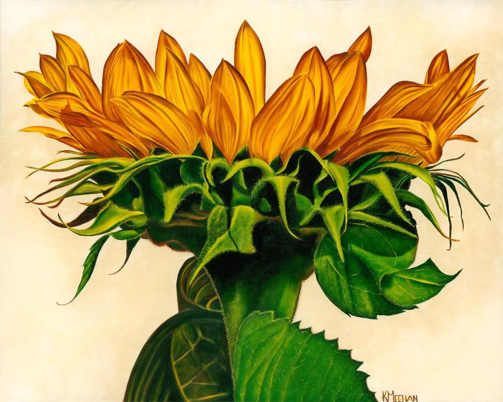 Sunlit oil painting by Kerri Meehan